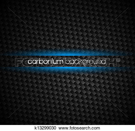 Clipart of Carbon fibre background with dark tones and blue light.