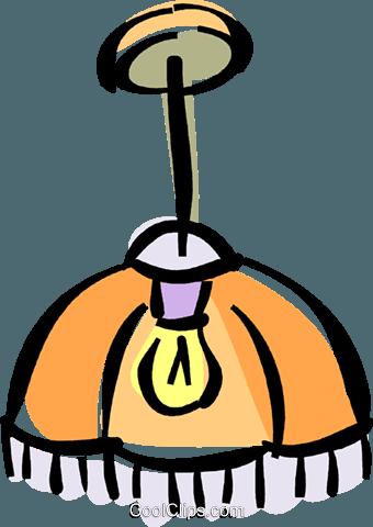 ceiling light Royalty Free Vector Clip Art illustration.