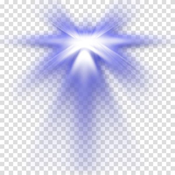 Blue and hwite light, Light Lens flare Desktop Transparency.
