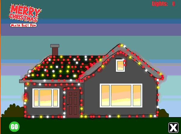 House with christmas light clipart.
