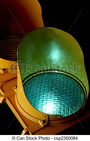 Stock Photo of Green light.