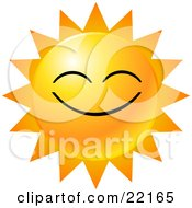 Clipart Illustration of a Yellow Emoticon Face Displayed As The.