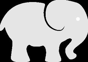 Light Gray Elephant Clip Art at Clker.com.