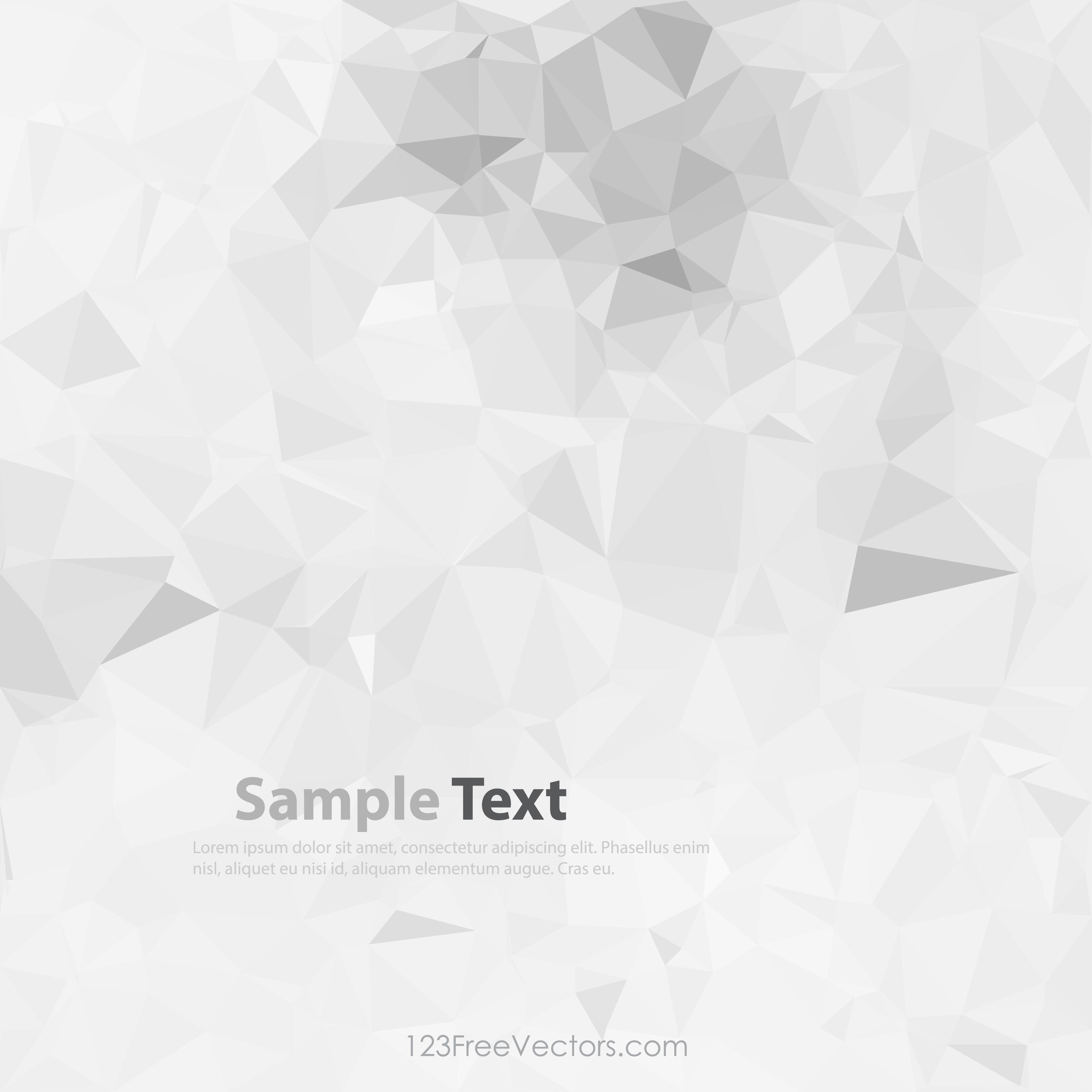 Light Gray Abstract Polygonal Background Clip Art.