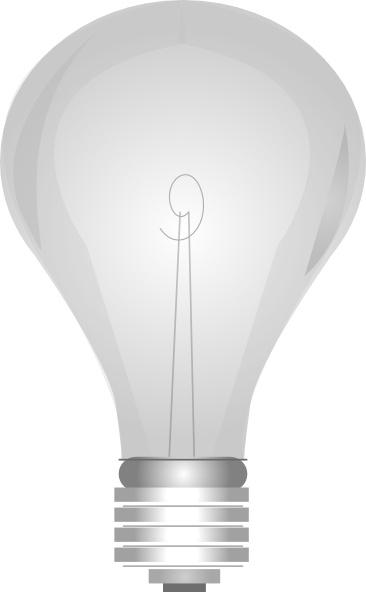 Gray Light Bulb clip art Free vector in Open office drawing svg.