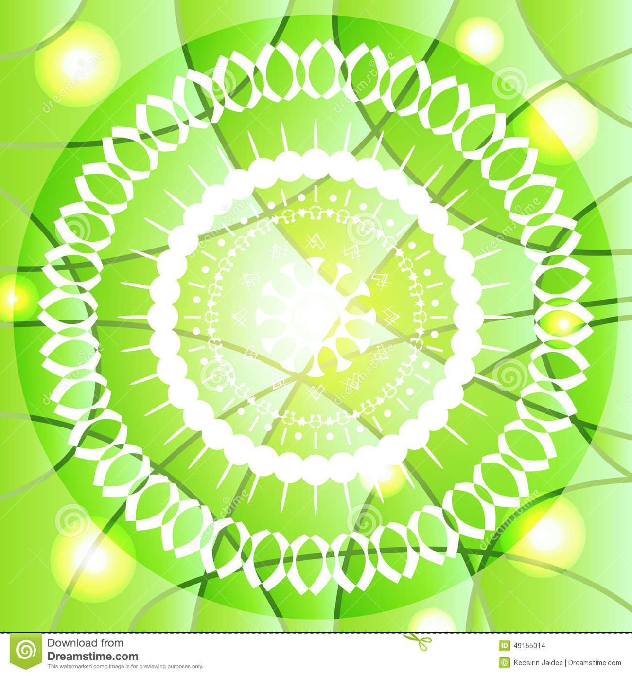 White Abstract Stylized Elements Vector On Light Green Background.