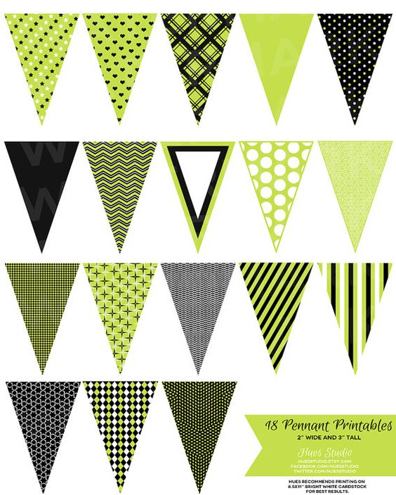 Pennant banner light green clipart.