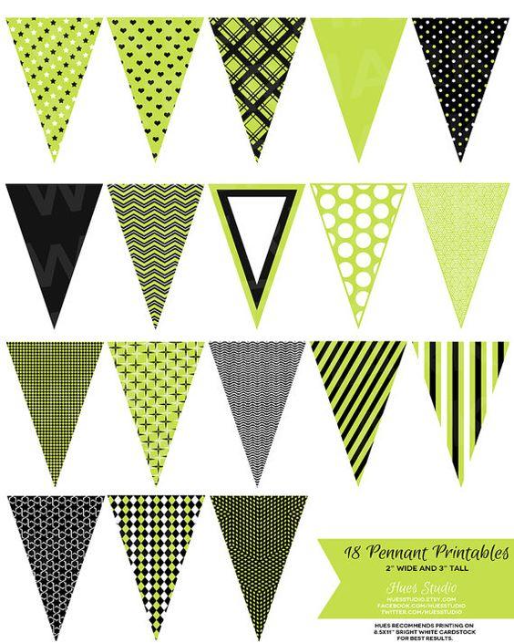 Pennant banner light green clipart.