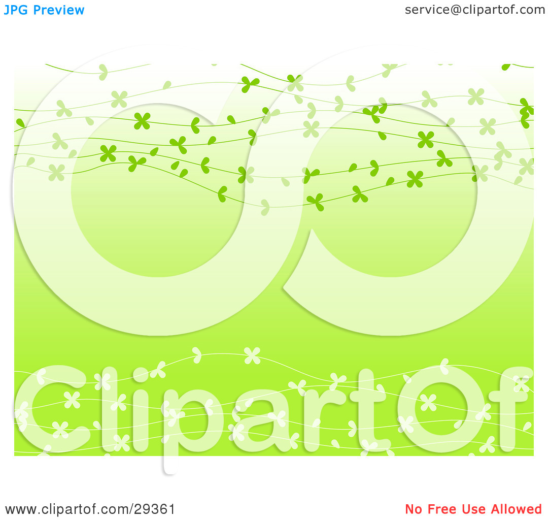 Clipart Illustration of a Gradient Light Green Background With.