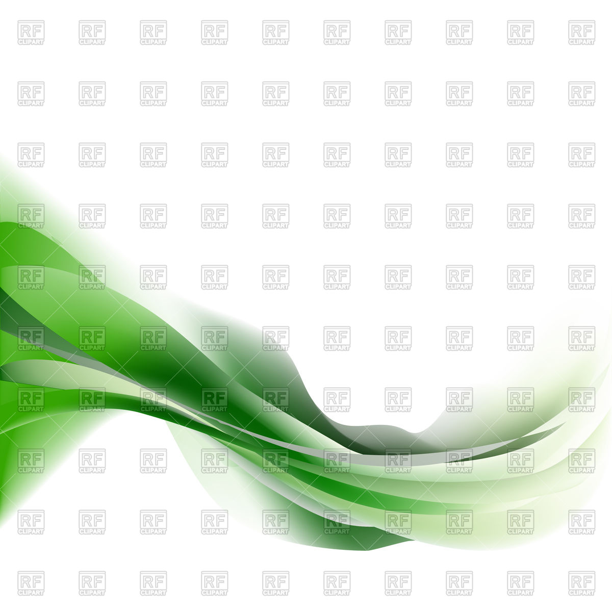 Green light wave isolated on a white background Vector Image.