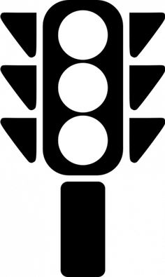 Traffic Light Clipart Black And White.