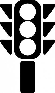 Traffic Light Clipart Black And White.