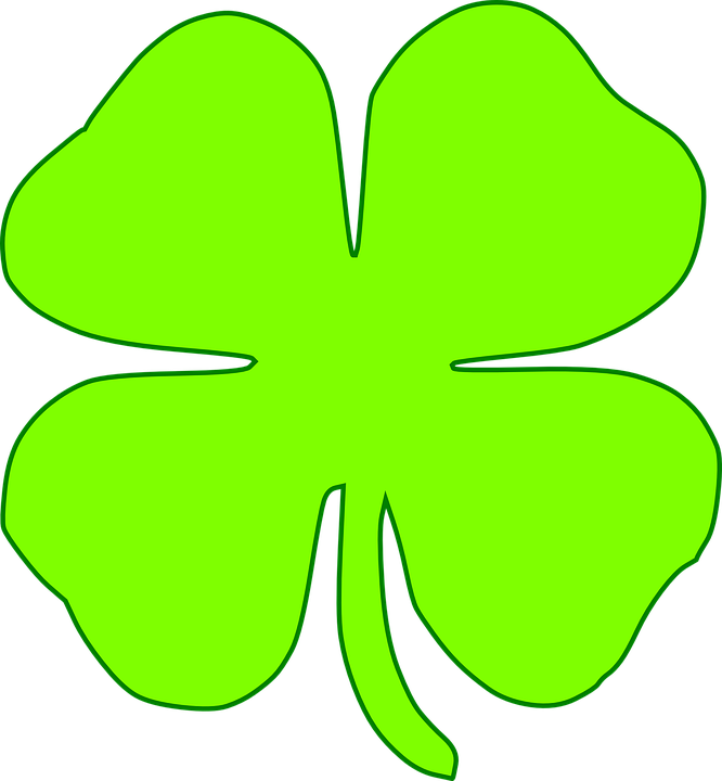 Free vector graphic: Shamrock, Four, Leaves, Light Green.