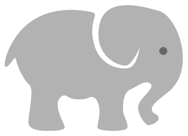 Light Grey Baby Elephant Clip Art at Clker.com.