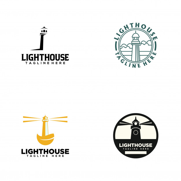 Lighthouse logo Vector.