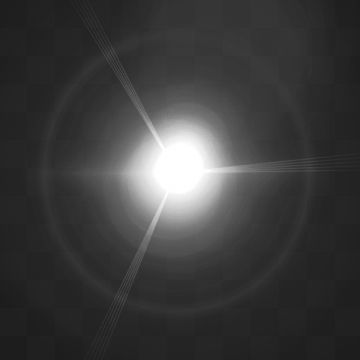2019 的 Transparent Lens Flare Sunlight Effect, Abstract.
