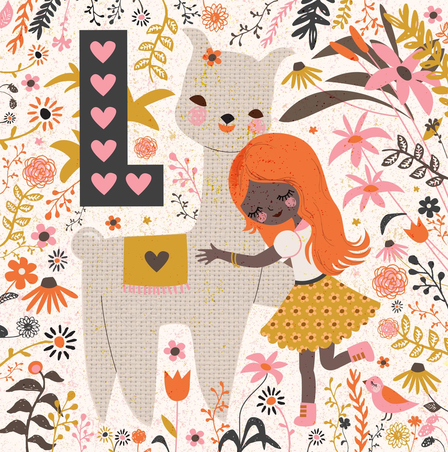 Llama Love — Aura Lewis Illustration.