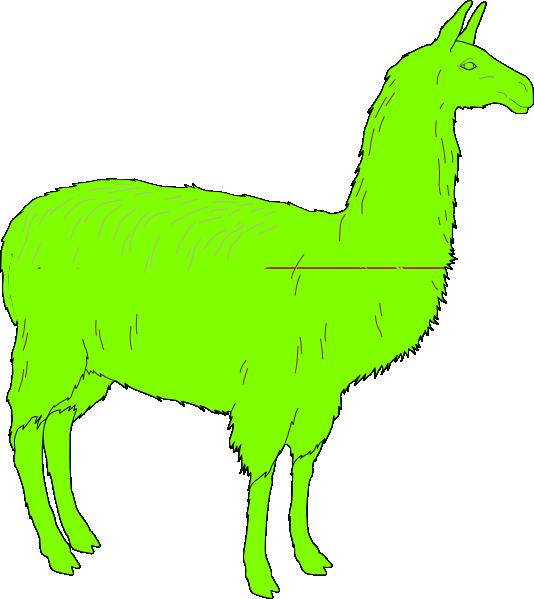 Llama Clip Art at Clker.com.