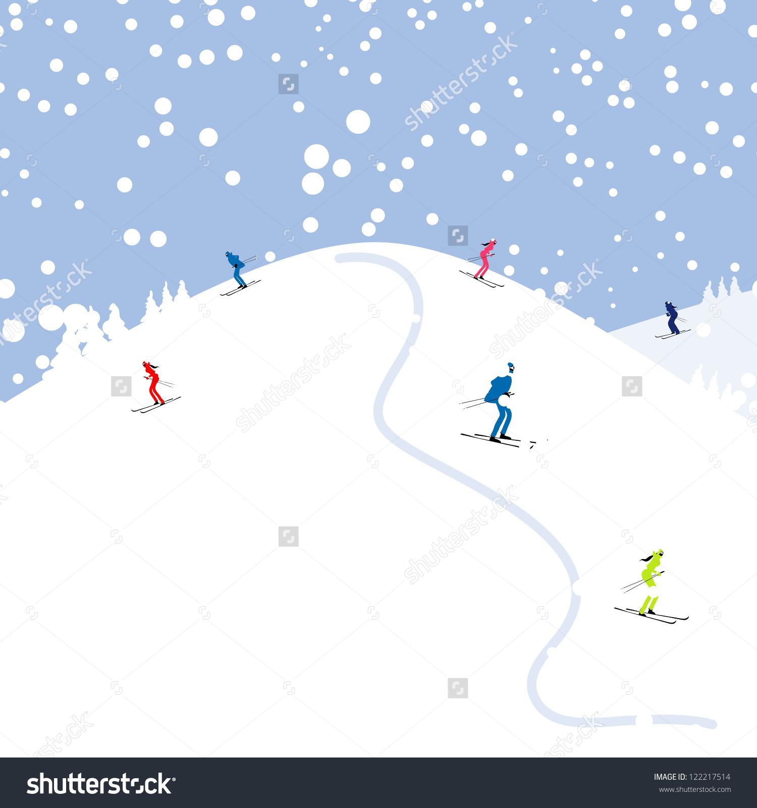 Ski hill clipart - Clipground