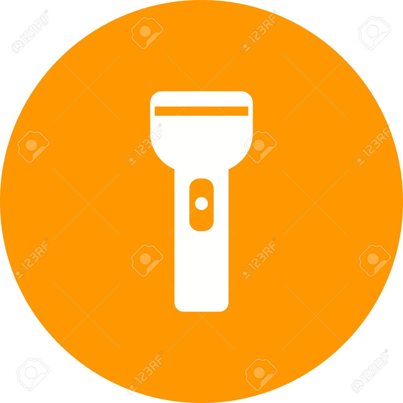 Flashlight, Light, Object Icon Vector Image. Can Also Be Used.