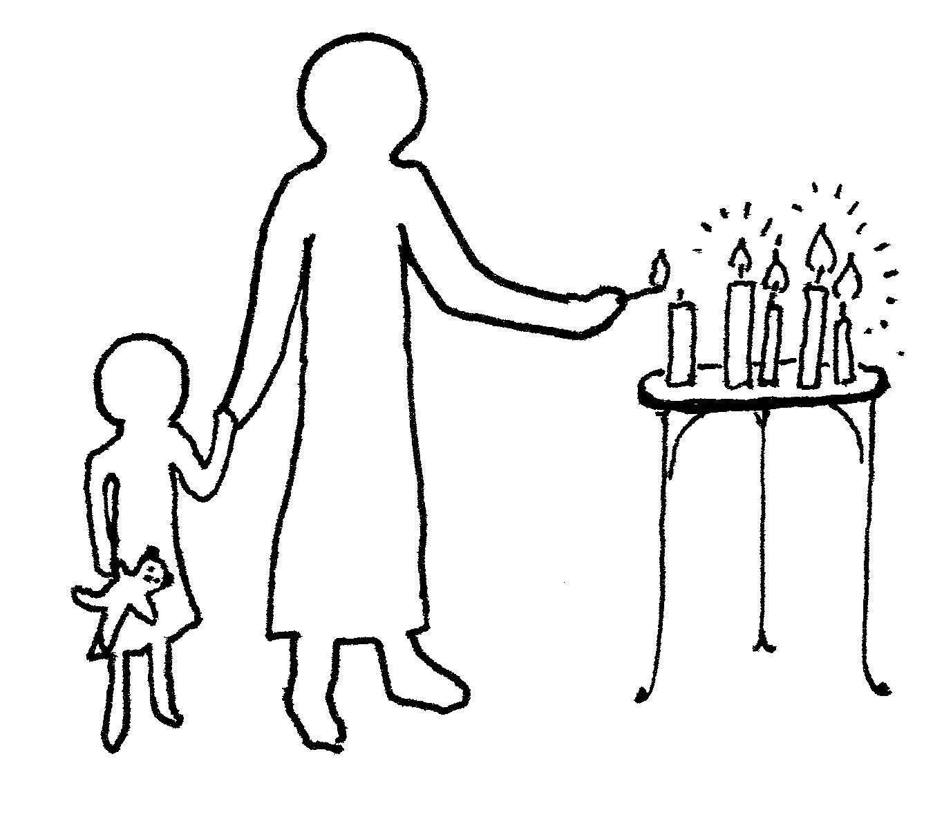 Candle lighting clipart.