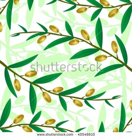 Seamless Vector Pattern Fresh Ripe Olive Stock Vector 202188322.