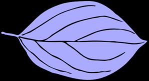 Light Blue Oval Leaf Clip art.