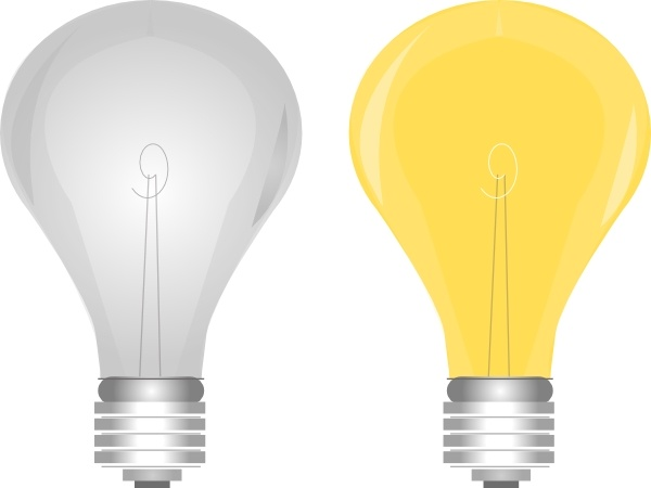 Lightbulb On Off clip art Free vector in Open office drawing.
