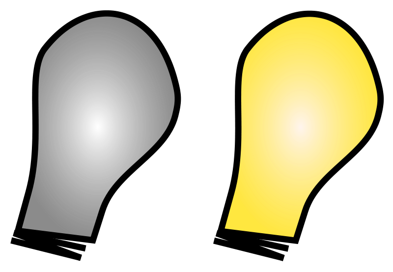 Free Clipart: Simple Light Bulb on/off.