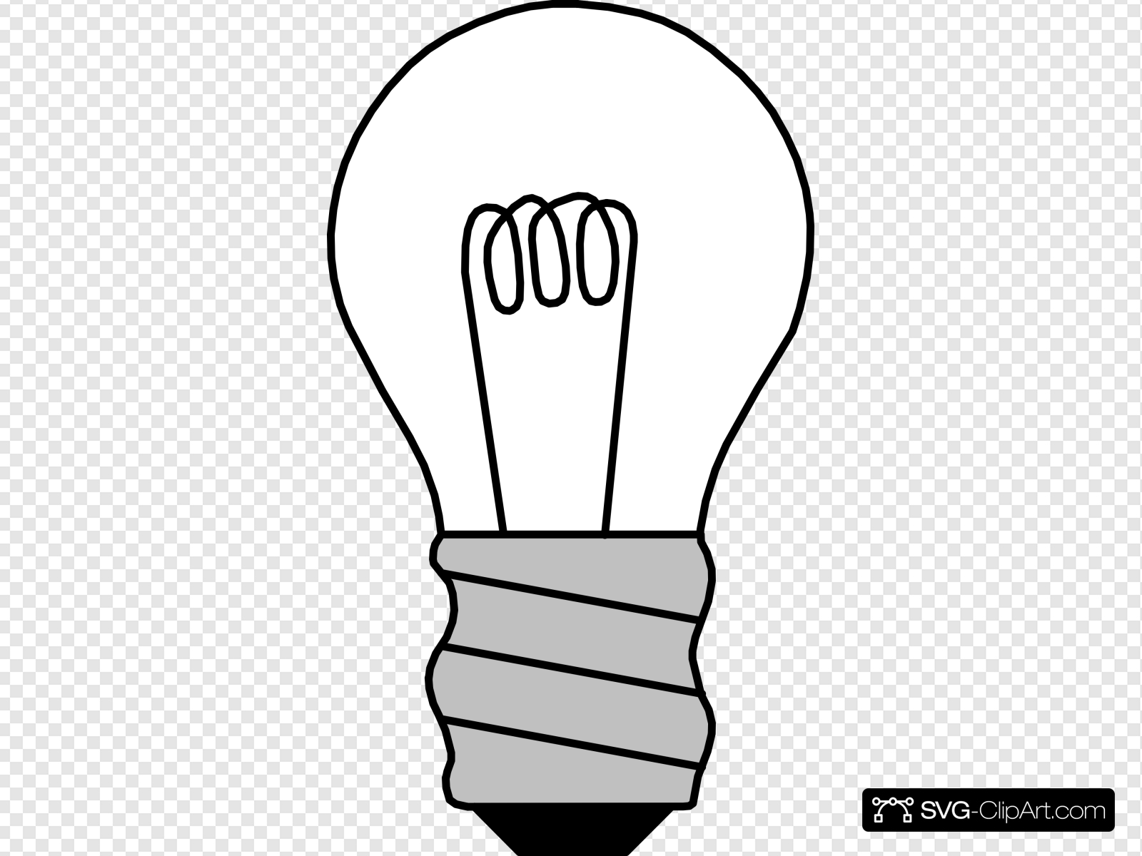 Light Bulb Off Clip art, Icon and SVG.