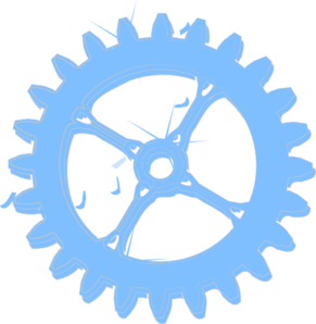 Light Blue Chrome Cog Wheel Clip Art at Clker.com.