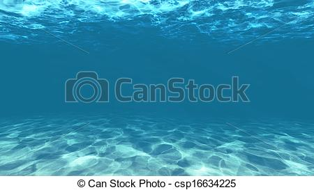 Clip Art of under water.