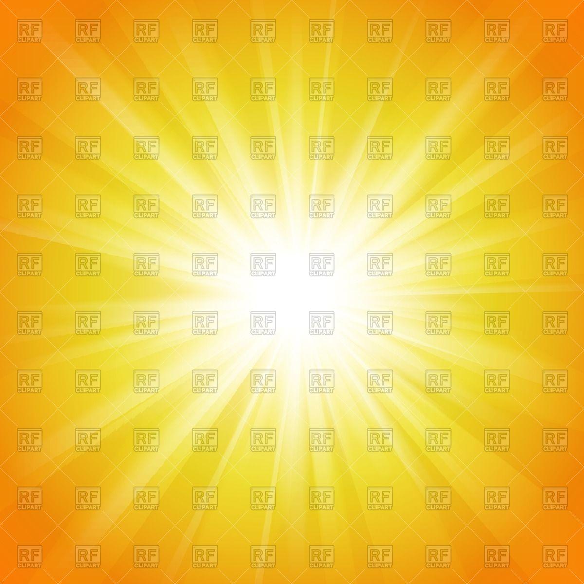 Bright flash of light on orange background Vector Image #40747.
