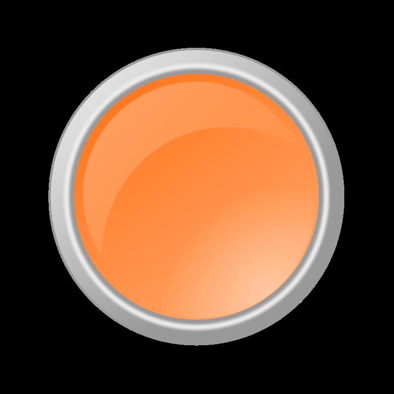 Free Clipart: Glossy Light Orange Button.