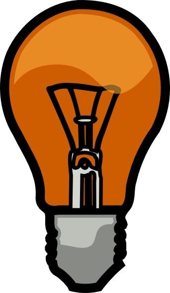 Light Bulb clip art Free vector in Open office drawing svg ( .svg.