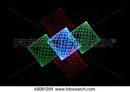 Stock Illustration of Light Painting k6081259.
