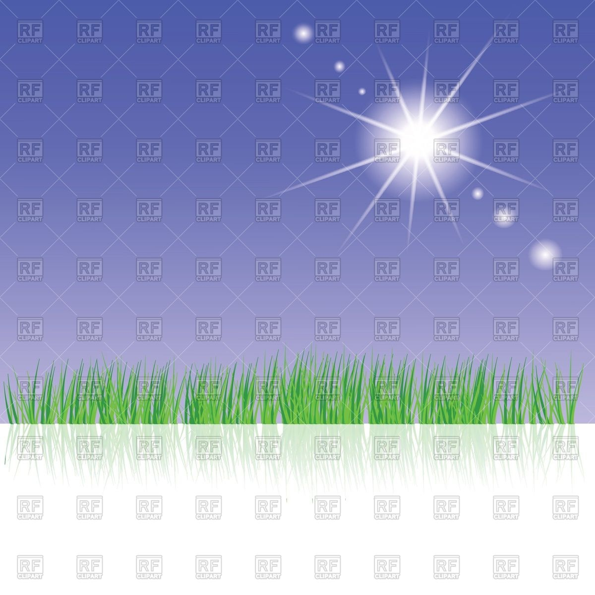 Green grass and patch of light Vector Image #39405.