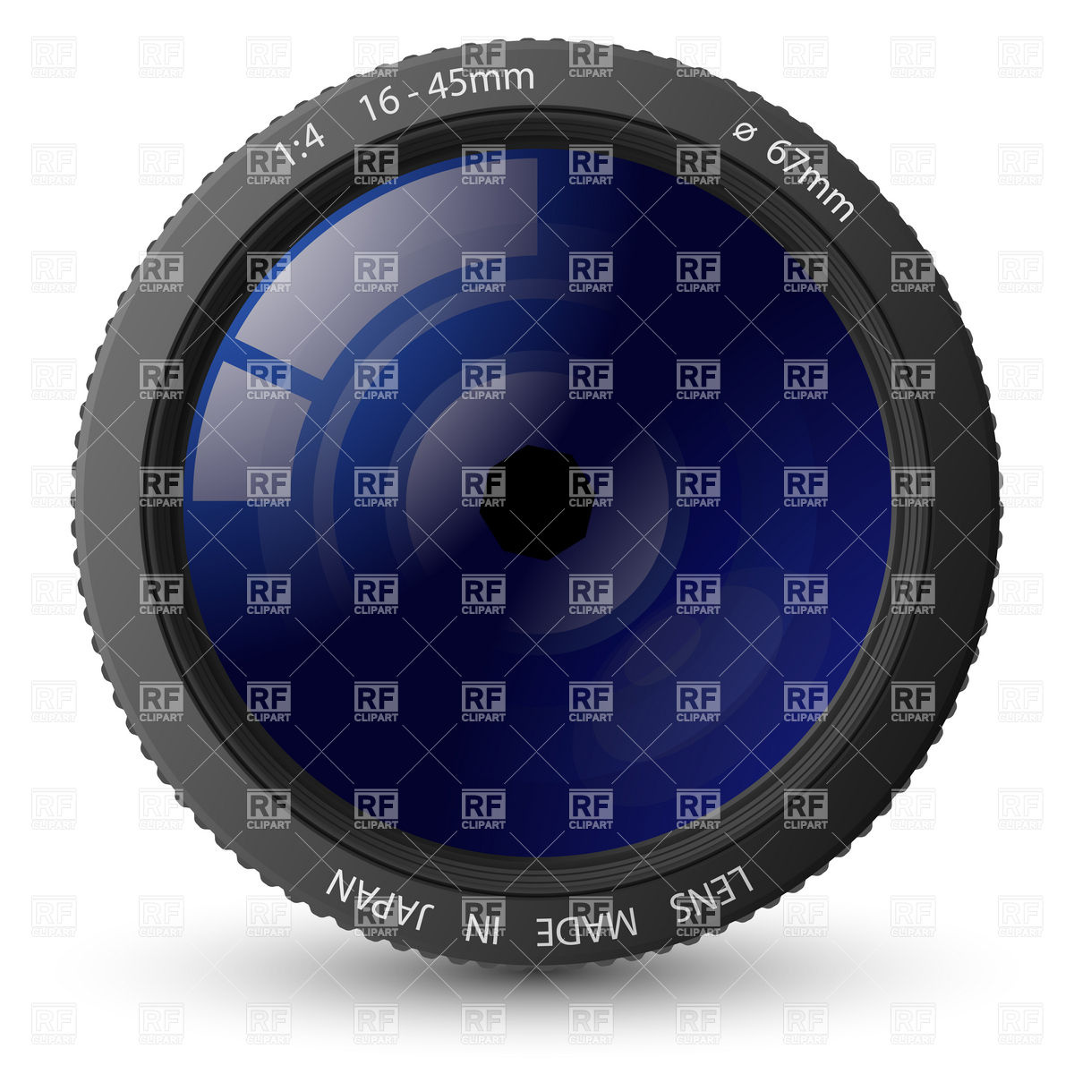 Camera lens with patch of light Vector Image #5785.
