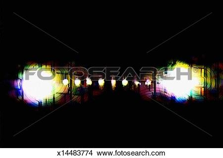 Drawings of Dark background with bright light patches x14483774.