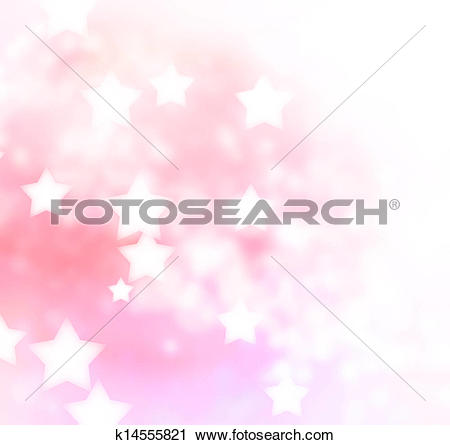 Clipart of Pink, Peach Star Lights Background k14555821.