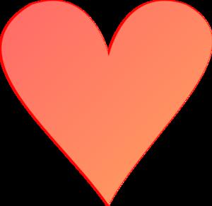 Light Coral Heart Clip Art at Clker.com.