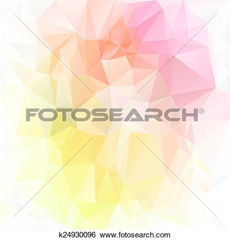 Clip Art of vector polygonal background.