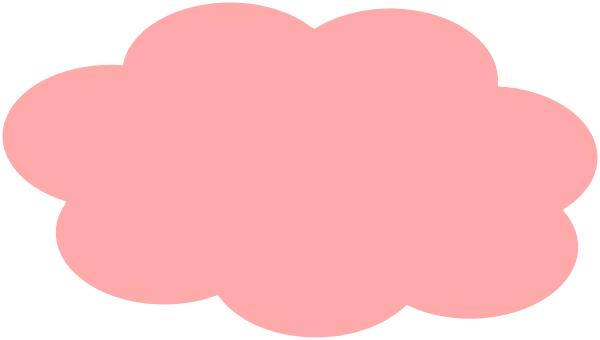 Light Pink Clouds Clip Art at Clker.com.