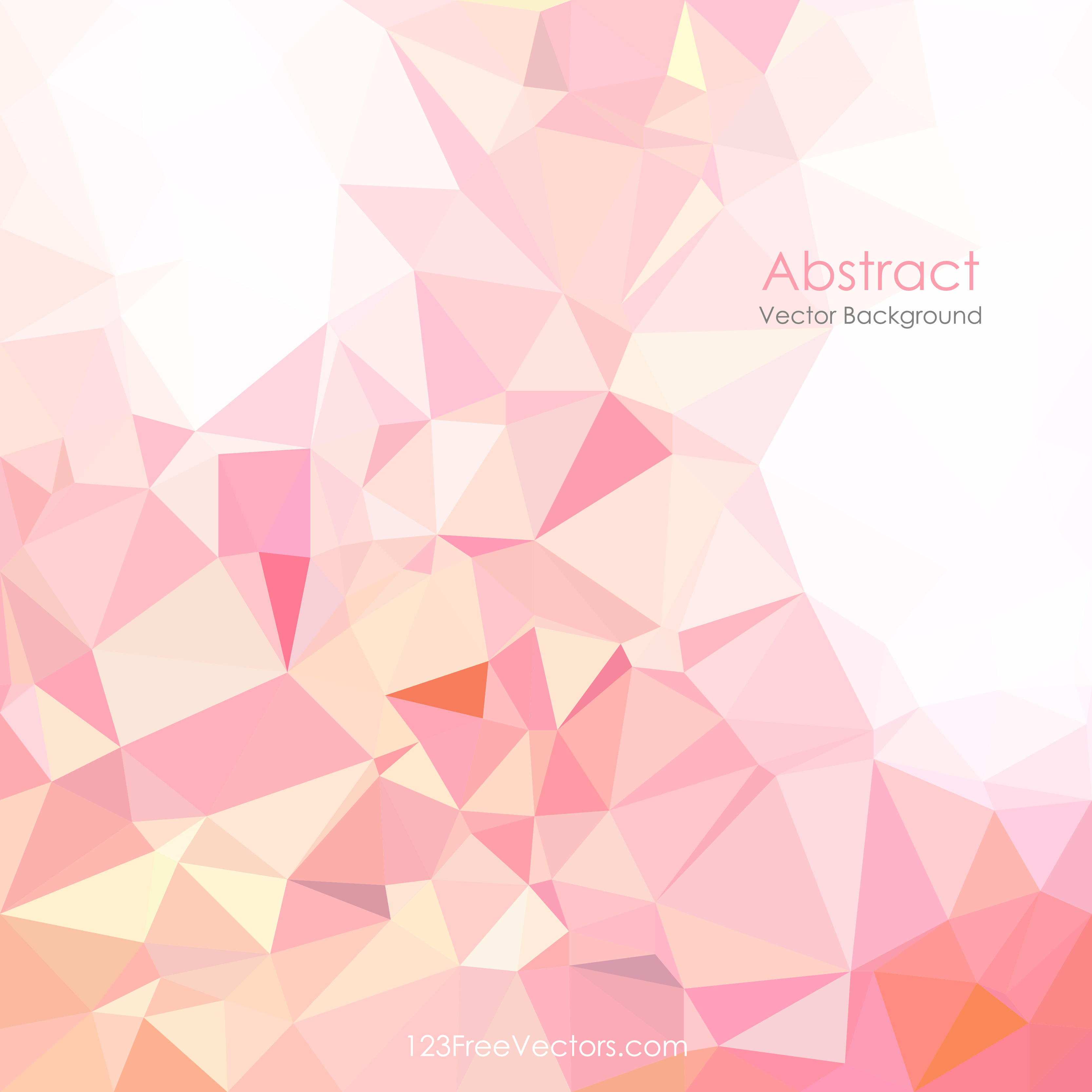 Geometric Polygon Light Pink Background Clip Art.