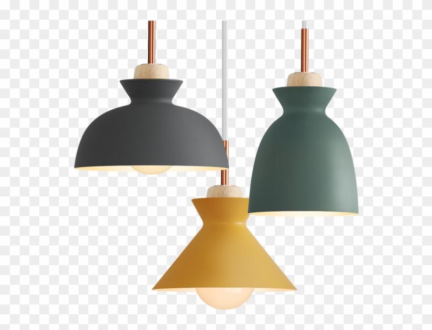 Fashion Creative Modern Wood Colorful Pendant Lights Clipart.