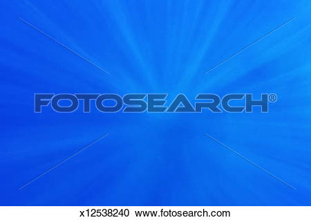 Stock Photography of Rays of sunlight penetrating underwater.