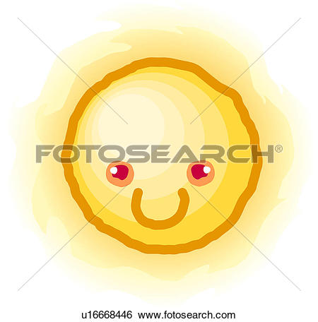 Clip Art of light, nature, sun, natural phenomenon, weather.
