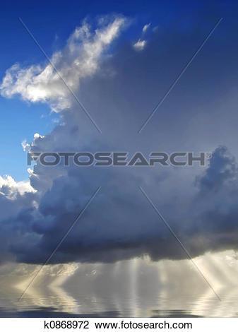 Clip Art of God's Light k0868972.