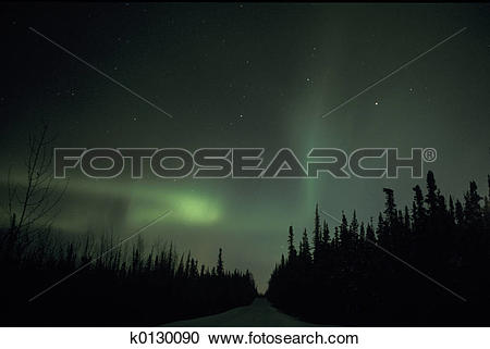 Stock Photography of Northern light k0130090.