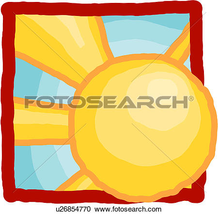 Clipart of sun, sky, natural phenomenon, natural, light, weather.